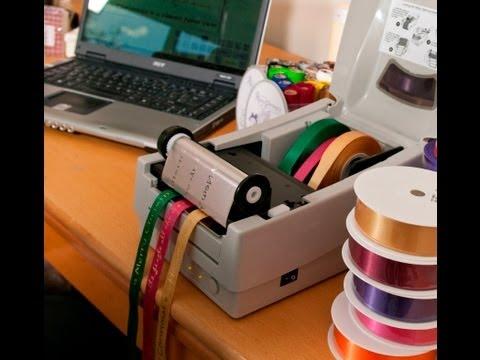Ribbon printing machine - Easily print multiple ribbons at once