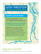 Gardening for Good — lecture by Judy Preston