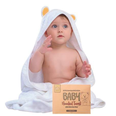 Find the Super Cute Baby Hooded Bath Towels at Kea Babies