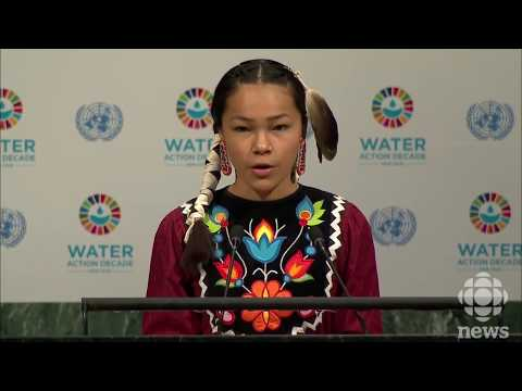 The speech of the water advocate Autumn Peltier