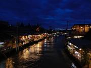 An evening at Amphawa Floating Market