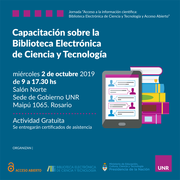 """Jornada """"Acceso a la información científica: Biblioteca Electrónica de Ciencia y Tecnología y Acceso Abierto"""""""