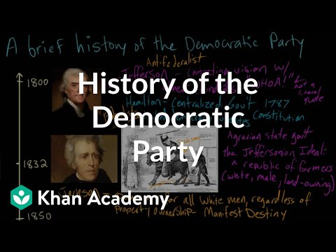 History of the Democratic Party | American civics | US government and civics | Khan Academy