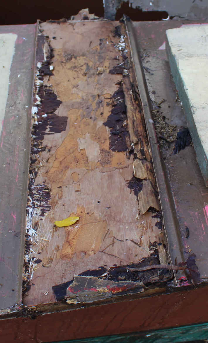 Hinemoa beam trough gone !