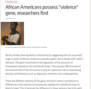 Violence Gene