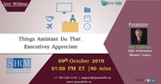 Things Assistants Do That Executives Appreciate