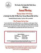 Friends of the Joshua Hyde Library Annual Meeting