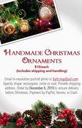 Handmade Vintage Photo Christmas Ornaments