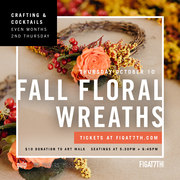 Fall Floral Wreaths at FIGat7th