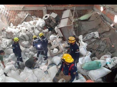 CAPTADO EN VÍDEO: COLAPSO DE UNA BODEGA EN MEDELLIN DEJA COMO SALDO UN FALLECIDO Y VARIOS HERIDOS - COLOMBIA