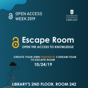 Open Access Week 2019 at Nazarbayev University: Room Escape Game