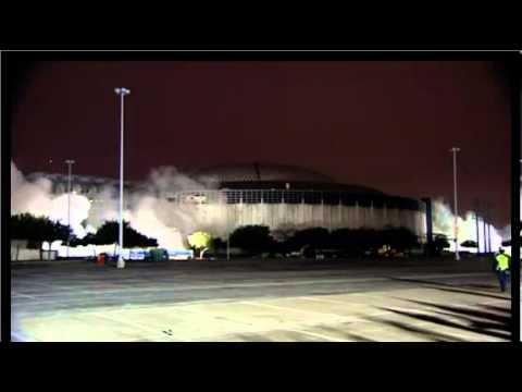 Astrodome Adjacent Ramp Towers Demolition