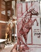 A horse at Pragrup