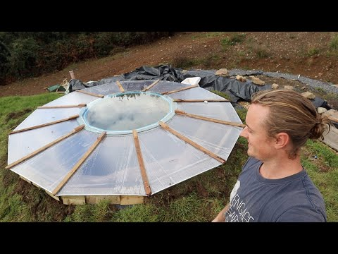 Off Grid Earthbag Workshop Part 39 roof window Glazing