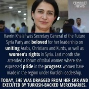Female Kurdish politician 'executed' by pro-Turkish militants as civilian death toll rises to 38 in Syria offensive