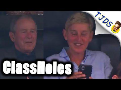 Ellen Defends Hanging With War Criminals