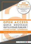 Matinée d'étude // Open Access : Quels nouveaux outils pour publier ?