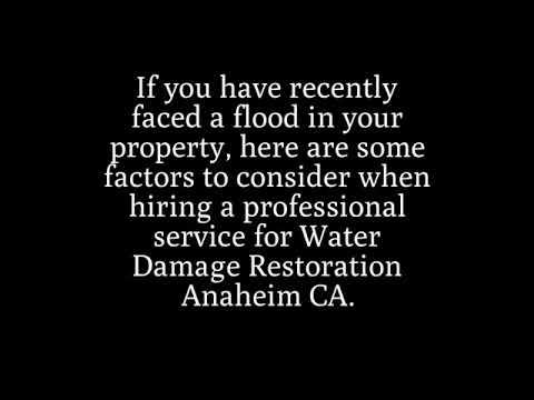 Water Damage Restoration Anaheim CA