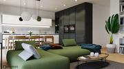 Koliba - útulný, dizajnový interiér bytu, návrh a realzácia   PRUNUS studio