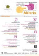 Semana de Acceso Abierto 2019 «¿Abierto para quién? Equidad en conocimiento abierto»