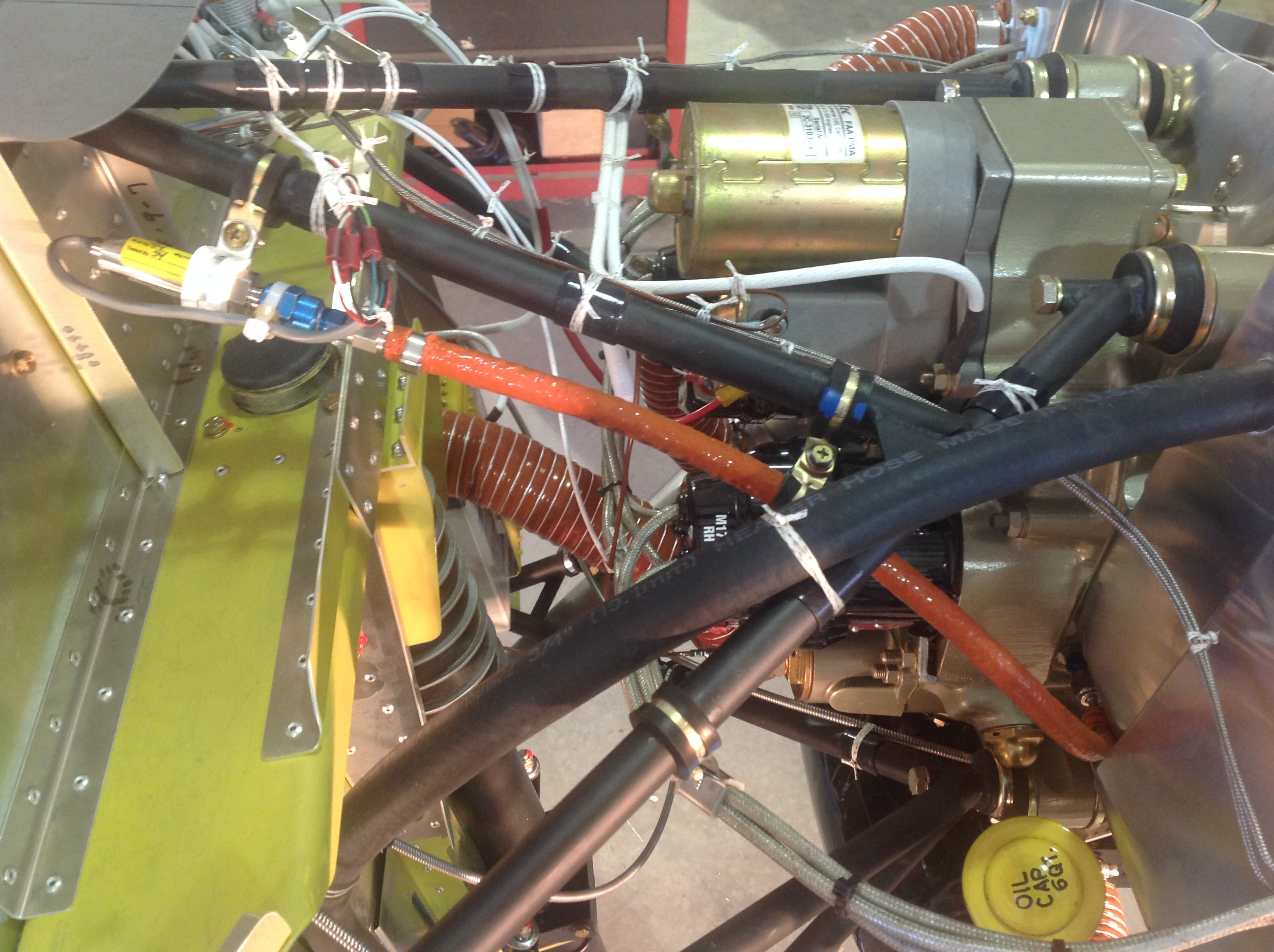 O-200 engine installation