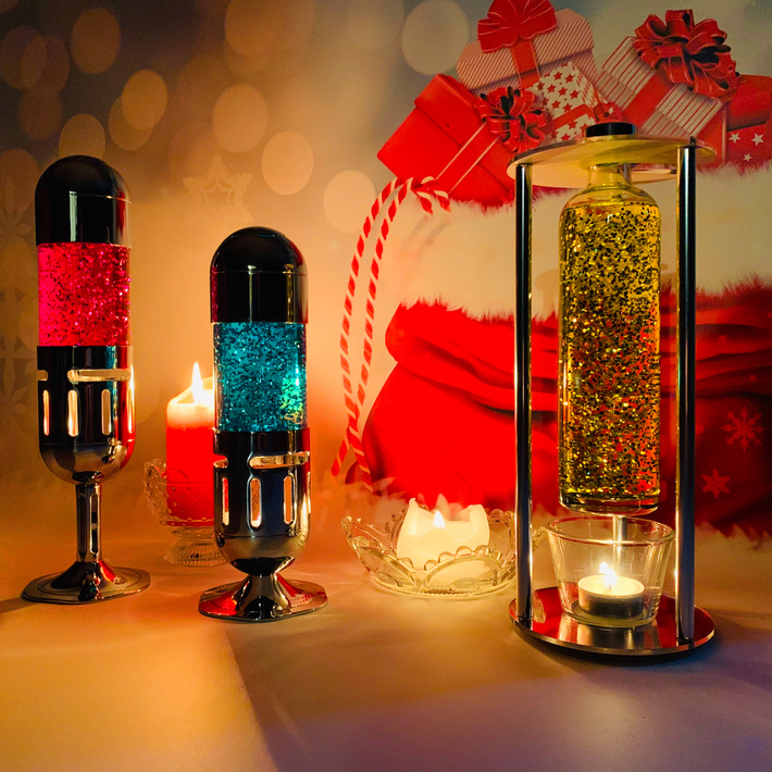 Replacement Glitter Bottle suitable for Mathmos Pod / Pod+ Lava lamp