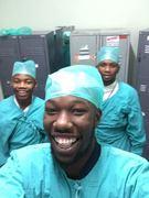Wayne as a nurse