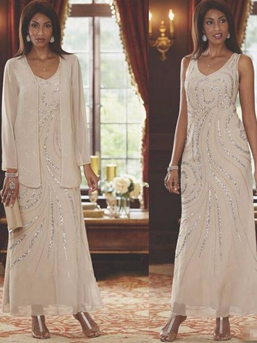Tea length and long mother of the bride dresses