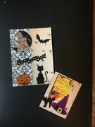 Halloween postcard and atc