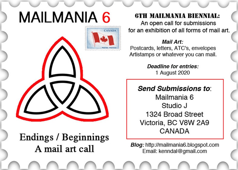 Mailmania 6 Call for Mail Art