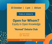 Open Access Week 2019 at Nazarbayev University: Public Debate