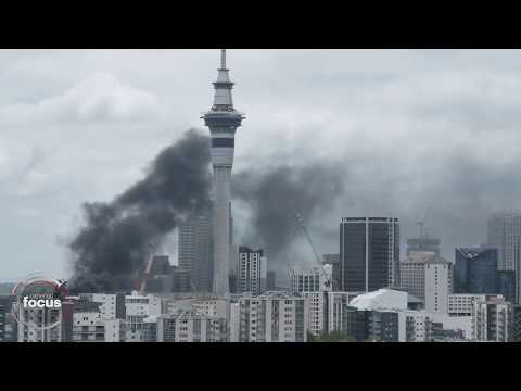 Fire at SkyCity convention centre Auckland