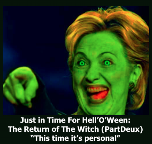 Witch Hillary returns to haunt DC and the DNC