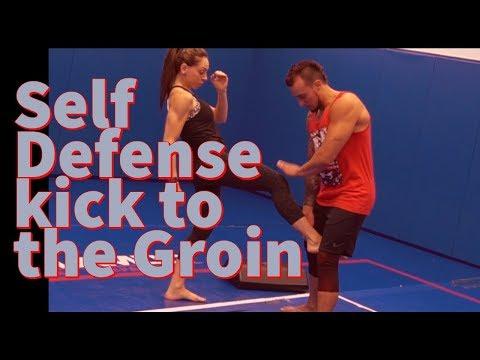 Kick to the groin self defense | SamuraiFT