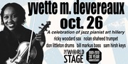 "YVETTE M. DEVEREAUX ""A Celebration of Jazz Pianist Art Hillery"" @ STAGE 9PM ~ [TONIGHT]"