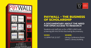 Swinburne University of Technology Paywall: The Business of Scholarship (film screening)