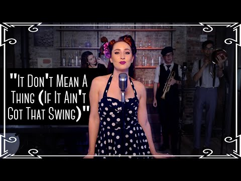 """""""It Don't Mean A Thing (If It Ain't Got That Swing)"""" Jazz Standard Cover by Robyn Adele Anderson"""