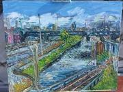 Train tracks, innercity