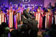 Bishop Milton Bigham Lays Hands on Dr Ludie Hoffman