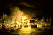 Bombardment of Algiers by Lord Exmouth in August 1816