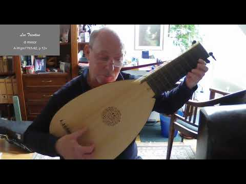 Sans titre / Les Tricotinds from the Burwell Lute Tutor (approx. 1670)