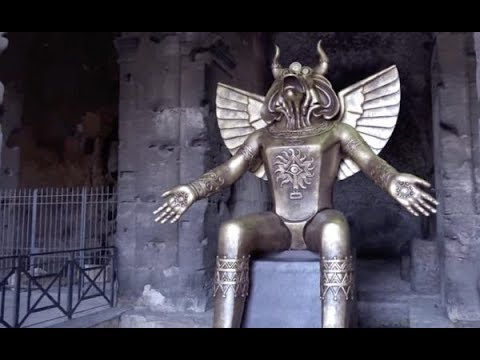 VATICAN Placed A Giant Statue of Molech At Entrance of Rome Colosseum!!