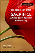 Thought For The Day ( SACRIFICE )