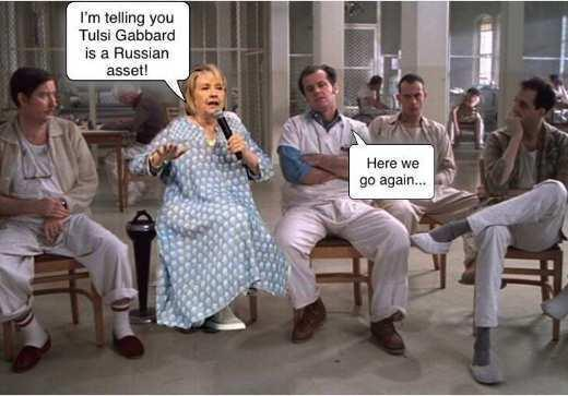 Hillary in her advanced stage of dementia