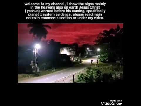 NIGHT SKY turned to BLOOD from the PLANET X/NEMESIS SYSTEM/METEOR EXPLODES STLOUIS/NewpoembyME/READ↓