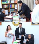 Sandeep Marwah Presented First Copy of His Biography to Pranab Mukherjee