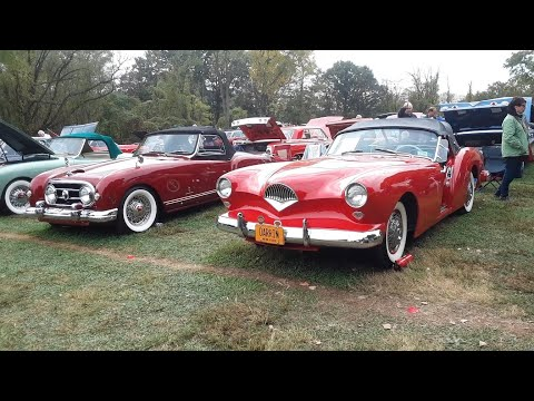 2 American Sports Cars Of the 50s Kaiser Darrin and Nash Healey At the 2019 AACA Fall Meet Hershey