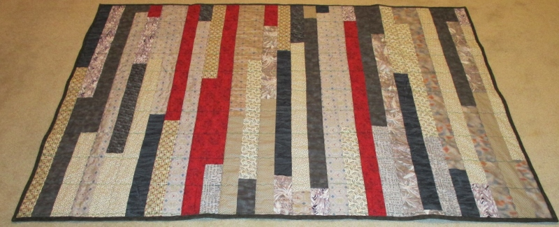Strip Quilt made for Project Linus