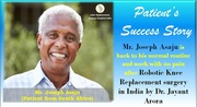 """50 Years Old's Robotic Knee Replacement Surgery""  Success Story"