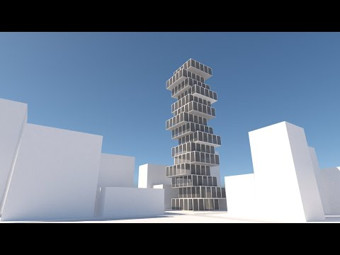 Rhino Lab Loft Tower Part03 Vray Intro